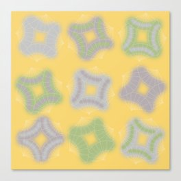 Japanese Fans for a Mellow Spring Canvas Print