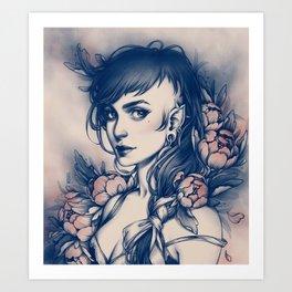 Peony addicted Art Print