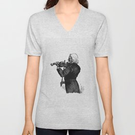 Fiddler from The Viking Bodleys An Excursion Into Norway And Denmark WIth Illustrations Unisex V-Neck