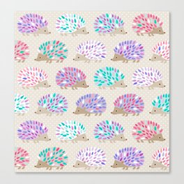 Hedgehog polkadot Canvas Print
