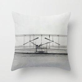 The Wright Brother's aeroplane Throw Pillow