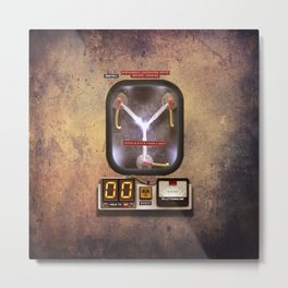 Time machines flux capacitor iPhone 4 5 6 7 8 x, tshirt, mugs and pillow case Metal Print