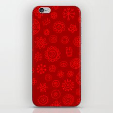 Red on Red Print iPhone & iPod Skin