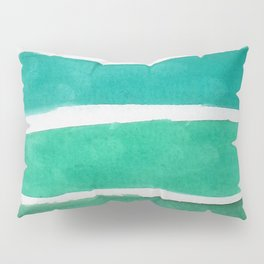 Gold and Green Stripes Pillow Sham