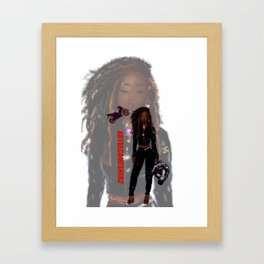 Lady Rider - JA Zoom Version Framed Art Print