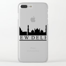 skyline new delhi Clear iPhone Case