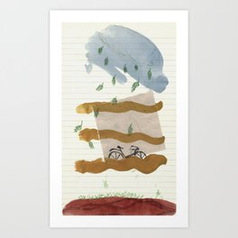 I Left My Bike Stuck In The Mud Art Print