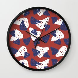 Flying chips Wall Clock