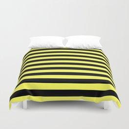 Stripes (Black & Yellow Pattern) Duvet Cover