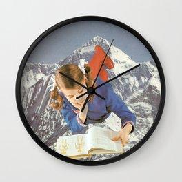 Girl Reading 1 Wall Clock