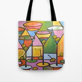 Abstract Art Wine Bar Alcohol Painting ... Martinis and Olives Tote Bag