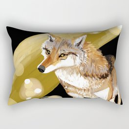 Mongolian Wolf #1 Rectangular Pillow