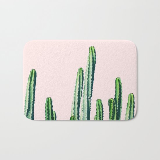 Cactus V6 #society6 #decor #buyart Bath Mat