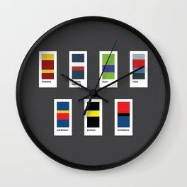 Heroes Palette Wall Clock