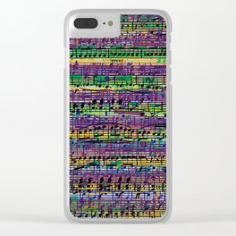 Beethoven Op 29 - Rainbow Music Collage Clear iPhone Case