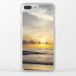 Sunrise over Water Clear iPhone Case
