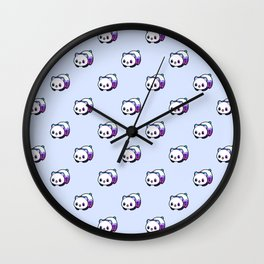 Kawaii Galactic Mighty Panda pattern Wall Clock