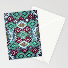 Minty Diamonds Stationery Cards