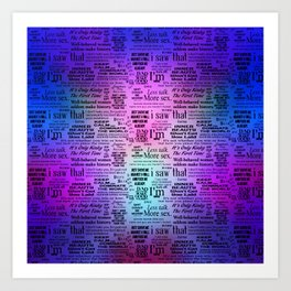 Adult Quotes Montage Art Print