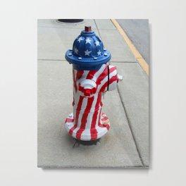 Patriotic Firehyradrant II Metal Print
