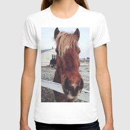 Brown horse face T-shirt