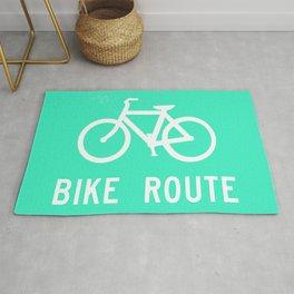 Bike Route Rug