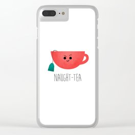 Naught-tea Clear iPhone Case