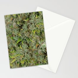 cannabis bud, marijuana macro Stationery Cards