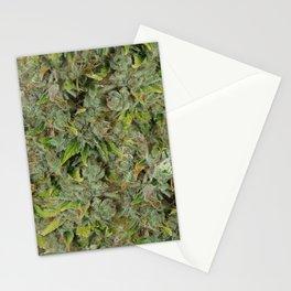cannabis bud, marijuana macro Stationery Cards