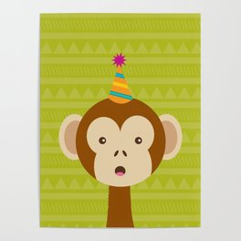 Party Monkey Poster