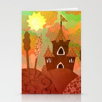 castle in the sky Stationery Cards featuring Castle by Ingrid Castile