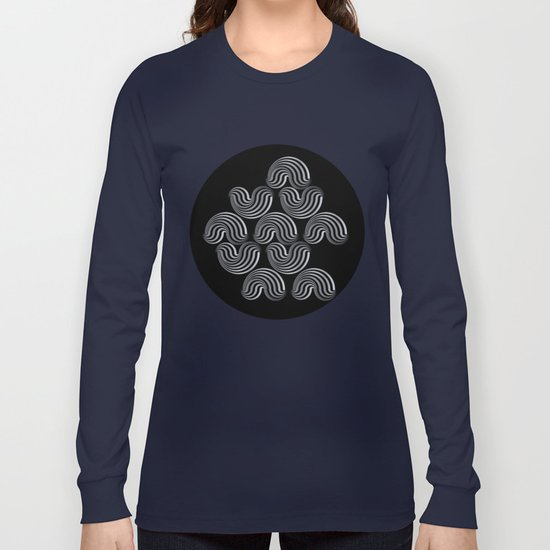 Black and white pattern - Optical game12 Long Sleeve T-shirt