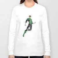 green lantern Long Sleeve T-shirts featuring Green Lantern by Ayse Deniz