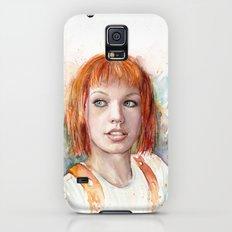 Leeloo Portrait Fifth Element Art Galaxy S5 Slim Case