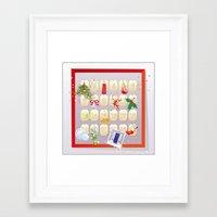 calendar Framed Art Prints featuring  Advent Calendar by rusanovska