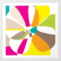 abstract summer mushrooms Art Print