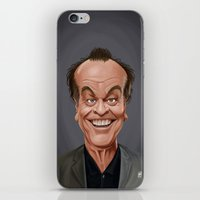 celebrity iPhone & iPod Skins featuring Celebrity Sunday ~ Jack Nicholson by rob art | illustration