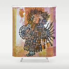 The Shaman's Song Shower Curtain