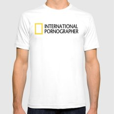 International Pornographer Mens Fitted Tee White SMALL