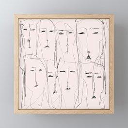 Resting faces Framed Mini Art Print