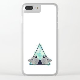 Foxes Clear iPhone Case
