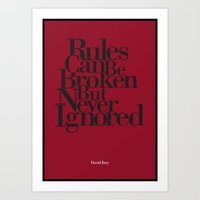 Rules Can Be Broken Art Print