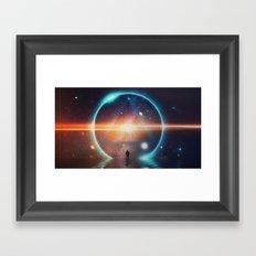seeing the lights Framed Art Print