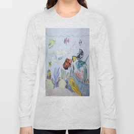 Sunlit Coral Bed Long Sleeve T-shirt