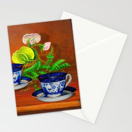 Teacups with Snap Peas Stationery Cards