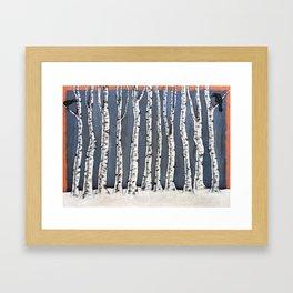 White book Framed Art Print