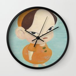 Yoshitomo Nara - Yellow in Blue Wall Clock