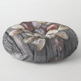 Venus' Hair Stone Rutilated Quartz #1 Floor Pillow
