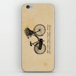 Albert Einstein - Life is Like Riding a Bicycle iPhone Skin