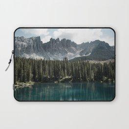 Lake Carezza - Italy -  Fine Art Landscape Photograph Laptop Sleeve